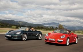 Picture red, green, Porsche