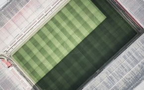 Wallpaper stadium, arena, view, from the height, field, top