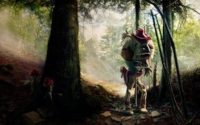 Wallpaper mushrooms, monster, forest