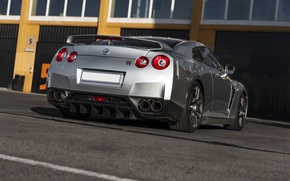 Picture grey, Nissan, GT-R, Nissan
