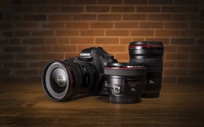 Picture the camera, lens, Canon EOS 5D Mark II