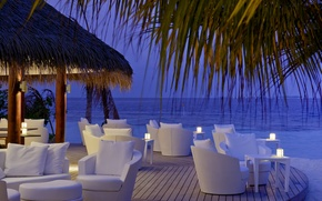 Picture evening, Maldives, luxury resort, Kandolhu Island