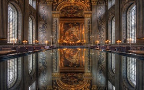 Picture reflection, London, Royal Naval College