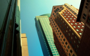 Picture different, street, skyscrapers, home, the city