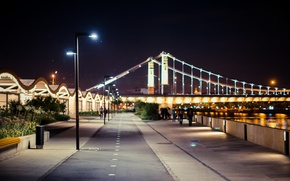 Picture light, night, the city, lights, lights, Park, Moscow, light, night, park, Moscow city, Museon