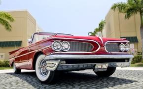 Picture Red, Machine, Convertible, Red, Pontiac, Pontiac, Cabrio, Convertible, 1959, Catalina
