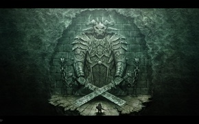 Picture gate, the demon, warrior, photoshop, SNaKe