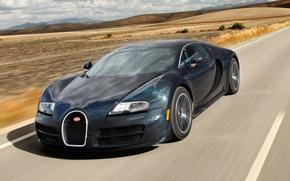 Picture road, speed, supercar, Bugatti Veyron, Bugatti, Super Sport, hypercar, 16.4