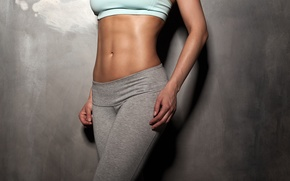 Picture model, fitness, abs, sportswear