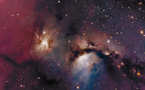Picture space, stars, LRGB, Reflection nebula, M78, the constellation of Orion