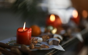 Wallpaper candle, holiday, background