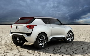 Picture desert, concept, low sky, SsangYong
