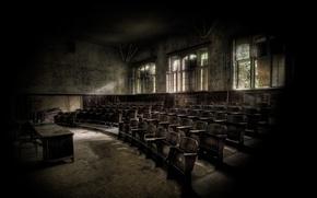 Wallpaper devastation, abandoned, audience