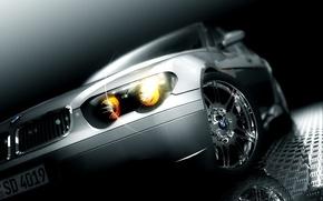 Wallpaper BMW, light, grey