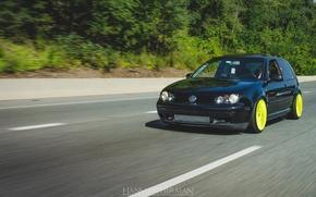 Picture turbo, golf, tuning, VolksWagen