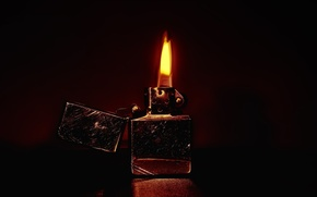 Picture fire, flame, lighter, scratches, zippo
