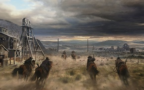 Picture America, USA, CA, cowboy, California Gold Rush