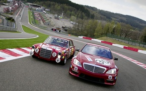 Wallpaper Mercedes Benz S AMG, evolution, race