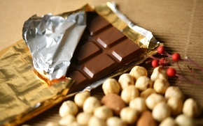 Picture food, chocolate, nuts, dessert, food, 1920x1200, sweet, chocolate, sweet, nuts, dessert