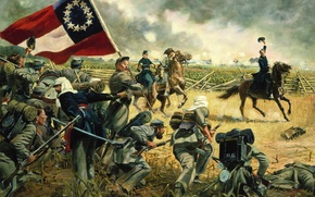 Wallpaper war, soldiers, Virginia -- July 21, 1861, the Union Army under the, The Fourth Alabama ...
