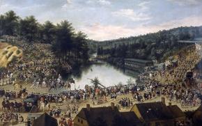 Picture trees, lake, people, home, picture, genre, Denis Van Alsloot, The feast of the virgin in …