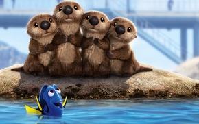 Picture kawaii, cinema, animation, wallpaper, Disney, Pixar, sea, bridge, water, cartoon, movie, animal, fish, film, cute, …