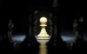 Wallpaper one, chess, pawn, Board