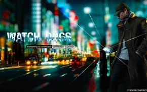 Picture gun, rain, the game, man, mask, guy, game, 2012, Watch Dogs, Aiden Pierce, Watchdogs, Aiden …