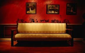 Wallpaper red, pattern, Sofa, photos