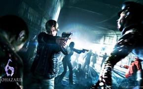 Picture gun, rails, zombie, Leon Scott Kennedy, Helena Harper, Leon Scott Kennedy, resident evil 6, apocalypse, …
