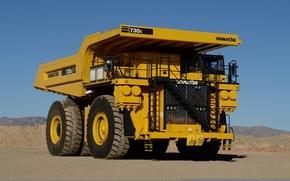 Picture truck, construction, mining, komatsu, 730e