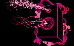 Picture music, pink, Vector, column