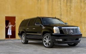 Picture girl, black, Cadillac-Escalade