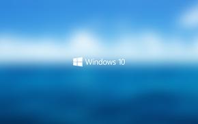 Wallpaper white, the sky, water, blue, Macro, Windows, Background, Logo, blue, Start, blur, Hi-Tech