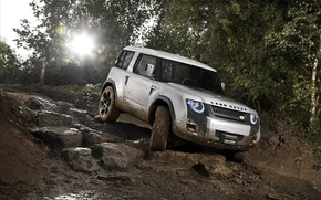 Picture squirt, dirt, rally, Land, Rover, DC100