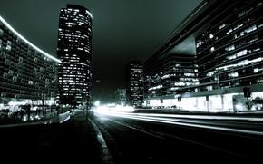 Wallpaper lights, road, light, night