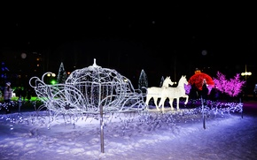 Picture winter, the city, new year, tale, Nizhnekamsk