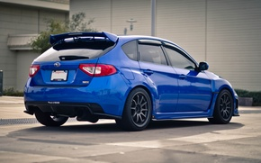 Picture Subaru, Impreza, blue, Subaru, Impreza