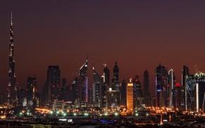 Picture Arab, Arab. Emirates, home, Dubai, Dubai, cities, Emirates, night, night, high-rise buildings.