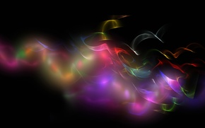 Picture rays, light, background, paint, smoke, gas