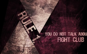 Wallpaper you do not talk about fight club, fight club, rule 1, don't talk about Fight ...