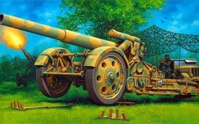 Picture figure, Germany, art, 21-cm mortar sample 1918, 210 mm, 21 cm Mrs.18, Mortar 18