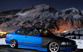 Picture BMW, Carbon, Tuning, E36, Stance