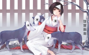 Picture girl, perfume, mask, anime, art, nora, noragami