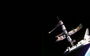 Picture planet, satellite, orbit, Shuttle