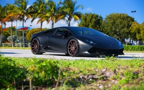 Picture Lamborghini, Sun, Day, Summer, Supercar, Vossen, Wheels, Huracan, LP640-4