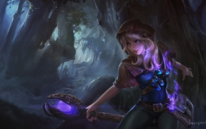 Picture forest, the game, art, MAG, staff, fantasy, Lux, League of Legends, location, League Of Legends