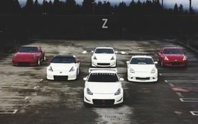Picture nissan, turbo, red, white, 350z, japan, tuning, custom, 370z, nismo, datsunjdm