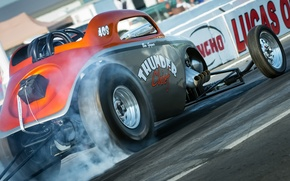 Picture race, hot-rod, classic car, drag racing