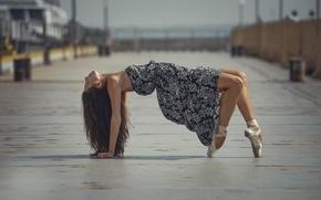Picture the city, dance, dress, grace, ballerina, Pointe shoes